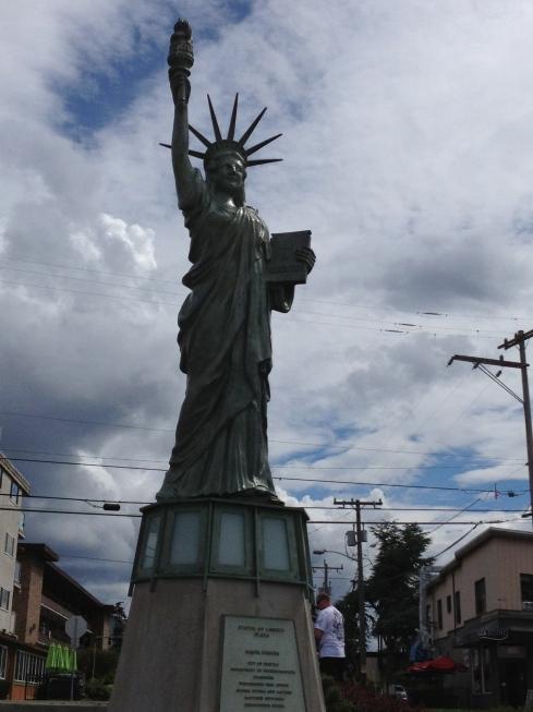 lady liberty at alki